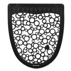 Boardwalk® Urinal Mat 2.0, Rubber, 17 1/2 x 20, Black/White, 6/Carton