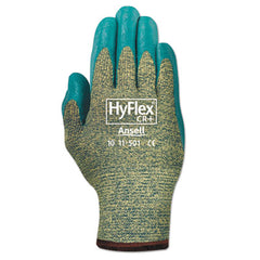 AnsellPro HyFlex® Kevlar® Work Gloves, Blue/Green, Size 9, 12 Pairs