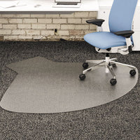 Mats-Chair Mat - deflecto® SuperMat Frequent Use Chair Mat for Medium Pile Carpeting Medium Pile Carpet, Straight,60x66 w/Lip, Clear - Office Ready - 1