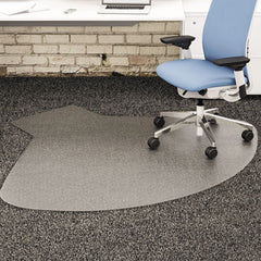 deflecto® SuperMat Frequent Use Chair Mat for Medium Pile Carpeting Medium Pile Carpet, Straight,60x66 w/Lip, Clear