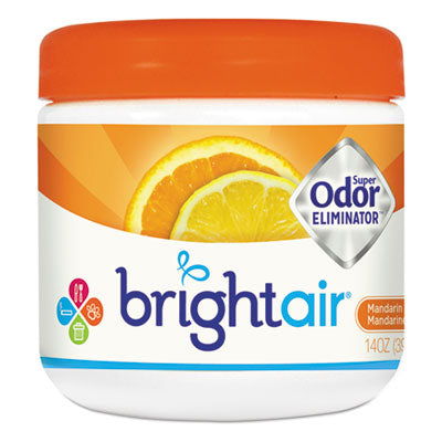 Air Fresheners/Odor Eliminators-Evaporating Gel - BRIGHT Air® Super Odor™ Eliminator Mandarin Orange and Fresh Lemon, 14oz - Office Ready - 1