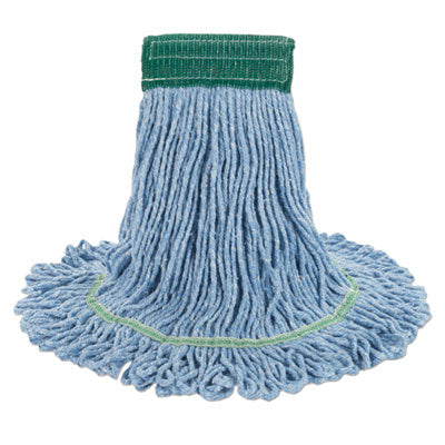 Boardwalk® Super Loop Wet Mop Head Cotton/Synthetic, Medium Size, Blue, 12/Carton Mop Heads-Wet - Office Ready