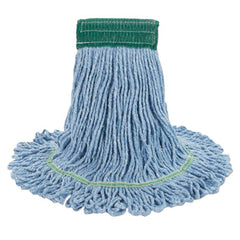 Boardwalk® Super Loop Wet Mop Head Cotton/Synthetic, Medium Size, Blue, 12/Carton