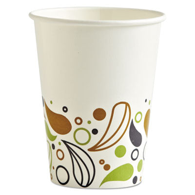 Cups-Cold Drink, Paper - Boardwalk® Deerfield Printed Paper Cold Cups 12 oz, 50 Cups/Pack, 20 Packs/Carton - Office Ready
