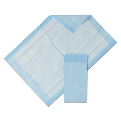 Diapers-Underpad - Medline Protection Plus® Disposable Underpads 23 x 36, Blue, 25/Bag, 6 Bag/Ctn - Office Ready