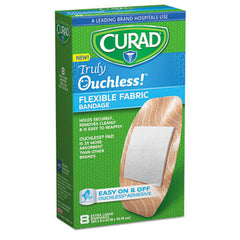 Curad® Ouchless!™ Flex Fabric Bandages, 1.65 x 4, 8/Box