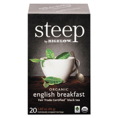 Bigelow® steep Tea, English Breakfast, 1.6 oz Tea Bag, 20/Box