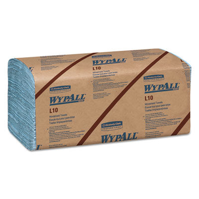 WypAll* L10 Windshield Towels 9 1/10 x 10 1/4, 1-Ply, L-Blue, 224/Pack, 10 Packs/Carton Towels & Wipes-Disposable Dry Wipe - Office Ready