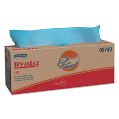 WypAll* L40 Wipers 16 2/5 x 9 4/5, Blue, 100/POP UP Box, 9 Boxes/Carton
