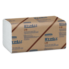 WypAll® L10 Wipers, Banded, 1-Ply, 10 1/2 x 9 3/10, 200/Pk, 12 Pk/Carton
