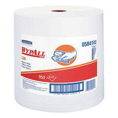 WypAll® L30 Towels, 12 2/5 x 13 3/10, White, 950 per Roll