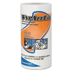 WypAll* L40 Towels, Small Roll, 10 2/5 x 11, White, 70/Roll, 24 Rolls/Carton