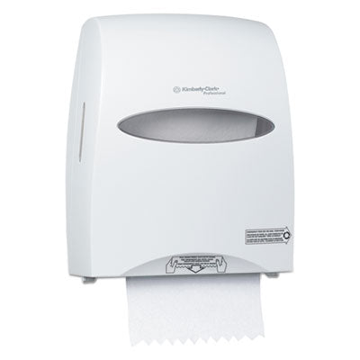 Towel Dispensers-Roll, Pull - Kimberly-Clark Professional* Sanitouch* Hard Roll Towel Dispenser 12 63/100w x 10 1/5d x 16 13/100h, White - Office Ready