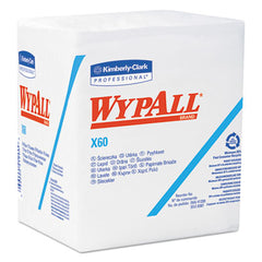 WypAll* X60 Wipers 1/4 Fold, 12 1/2 x 13, White, 76/Box, 12 Boxes/Carton