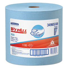 WypAll* X60 Wipers Jumbo Roll, 12 1/2 x 13 2/5, Blue, 1100/Roll