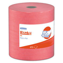 WypAll* X80 Wipers HYDROKNIT Roll, 12 1/2 x 13 2/5, Red, 475 Wipers/Roll