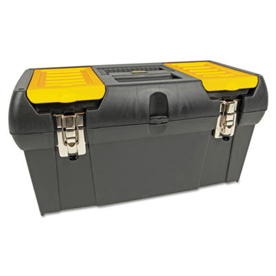 Tool Chests-Portable Box - Stanley® Series 2000 Toolbox With Tray Two Lid Compartments - Office Ready