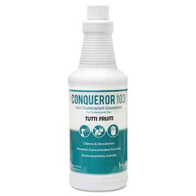 Fresh Products Conqueror 103 Odor Counteractant Concentrate, Tutti-Frutti, 32oz Bottle, 12/CT Air Fresheners/Odor Eliminators-Counteractant/Digester - Office Ready