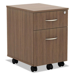Alera® Valencia™ Series Mobile Box/File Pedestal, 15 7/8 x 19 1/8 x 22 7/8, Walnut