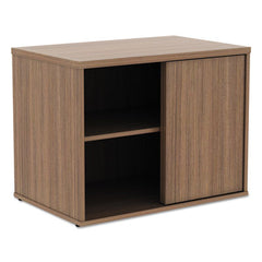 Alera® Open Office Desk Series Low Storage Cabinet Credenza, 29 1/2 x 19 1/8x 22 7/8, Walnut