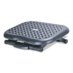 Alera® Relaxing Adjustable Footrest, 13 3/4w x 17 3/4d x 4 1/2 to 6 3/4h, Black
