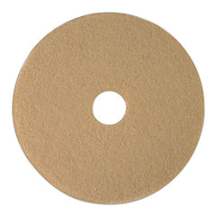 "Boardwalk® Tan Burnishing Floor Pads, 19"" Diameter, 5/Carton"
