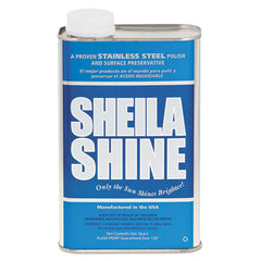 Sheila Shine Stainless Steel Cleaner & Polish, 1qt Can, 12/Carton