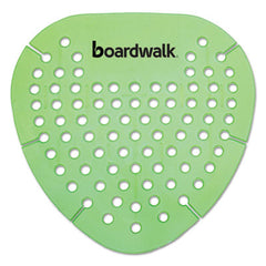 Boardwalk® Gem Urinal Screens, Lasts 30 Days, Green, Herbal Mint Fragrance, 12/Box