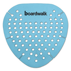 Boardwalk® Gem Urinal Screens, Lasts 30 Days, Blue, Cotton Blossom Fragrance, 12/Box