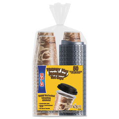 Dart® Bistro™ Hot/Cold Foam Cups With Lids 12oz, Maroon, 300-Cup & Lids/Carton