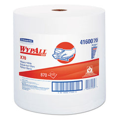 WypAll* X70 Cloths, Jumbo Roll, Perf., 12 1/2 x 13 2/5, White, 870 Towels/Roll