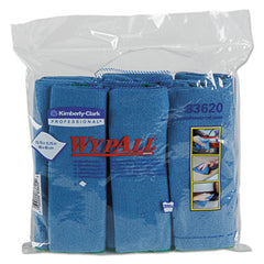 WypAlll* Microfiber Cloths, Reusable, 15 3/4 x 15 3/4, Blue, 24/Carton