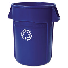 Rubbermaid® Commercial Brute® Recycling Container, Round, 44 gal, Blue