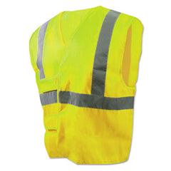 Boardwalk® Class 2 Safety Vests Lime Green/Silver, Standard