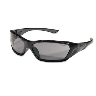 Safety Glasses-Wraparound - Crews® Forceflex™ Professional Grade Safety Glasses Black Frame, Gray Lens - Office Ready