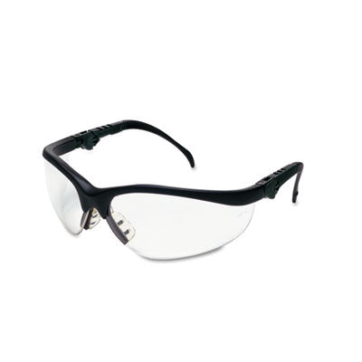 Crews® Klondike® Plus Safety Glasses Black Frame, Clear Lens Safety Glasses-Wraparound - Office Ready