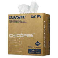 Chicopee® Durawipe® Medium-Duty Industrial Wipers 8.8 x 17, White, 110/Box, 12 Box/Carton