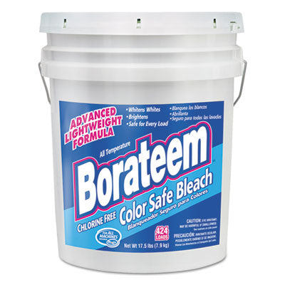 Borateem® Chlorine-Free Color Safe Bleach, Powder, 17.5 lb. Pail Cleaners & Detergents-Bleach - Office Ready