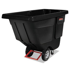 Rubbermaid® Commercial Rotomolded Tilt Truck, Rectangular, Plastic, 450-lb Cap., Black