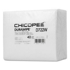 "Chicopee® Durawipe® Medium-Duty Industrial Wipers, 14.6"" x 13.7, White, 960/Carton"
