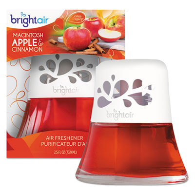 BRIGHT Air® Scented Oil™ Air Freshener, Macintosh Apple and Cinnamon, Red, 2.5 oz Air Fresheners/Odor Eliminators-Scented Oil - Office Ready