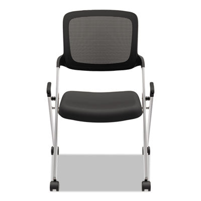 HON® VL304 Mesh Back Nesting Chair, Black/Silver Chairs/Stools-Folding & Nesting Chairs - Office Ready