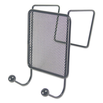 Universal® Wire Mesh Partition Coat Hook, 4 1/8 x 6, Black