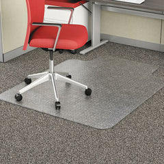 Alera® Studded Chair Mat for Flat Pile Carpet, 36 x 48, Lipped, Clear