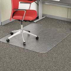 Alera® Studded Chair Mat for Flat Pile Carpet, 46 x 60, Rectangular, CR