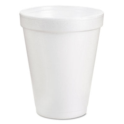 Dart® Foam Drink Cups 6oz, White, 25/Bag, 40 Bags/Carton