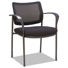"Alera® IV Series Guest Chairs, 25.38"" x 20.88"" x 33"", Black Seat/Black Back, Black Base, 2/Carton"