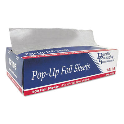 Durable Packaging Pop-Up Foil Sheets, 12