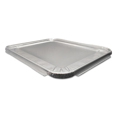 Durable Packaging Aluminum Steam Table Lids, 100 /Carton Food Containers-Pan/Oven-Tray Cover, Aluminum - Office Ready