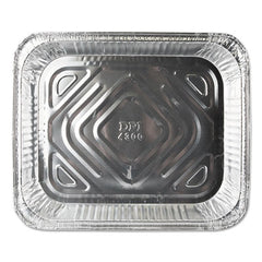 Durable Packaging Aluminum Steam Table Pans, Half Size, Shallow, 100/Carton